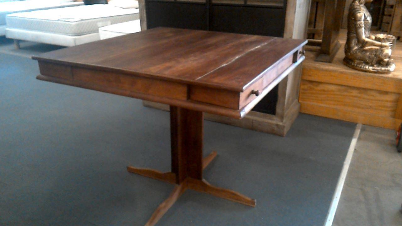 table de jeu bois exotique d 39 occasion. Black Bedroom Furniture Sets. Home Design Ideas
