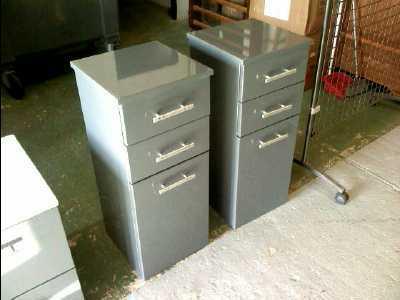 Meuble sdb 2 tiroirs 1 porte laque gris d 39 occasion for Monsieur meuble portet sur garonne