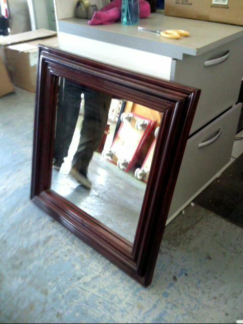 miroir contour bois d 39 occasion. Black Bedroom Furniture Sets. Home Design Ideas