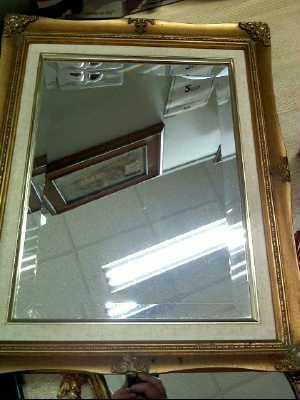 Miroir biseaute cadre dor d 39 occasion for Miroir cadre dore