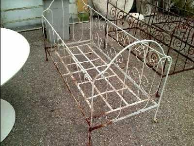 lit fer forge d 39 occasion. Black Bedroom Furniture Sets. Home Design Ideas