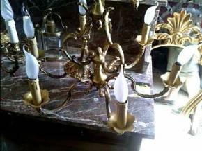 lustre 6 branches d 39 occasion. Black Bedroom Furniture Sets. Home Design Ideas