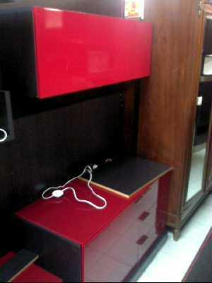 meuble tele rouge noir d 39 occasion. Black Bedroom Furniture Sets. Home Design Ideas