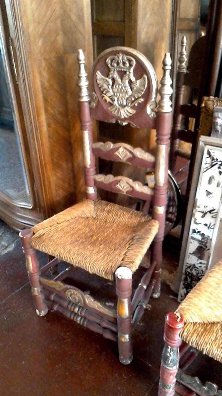 chaise espagnol feuille argent d 39 occasion. Black Bedroom Furniture Sets. Home Design Ideas