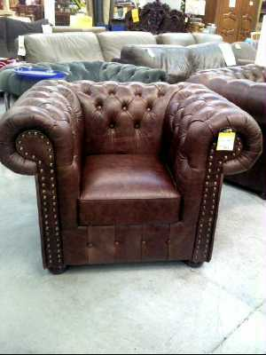 fauteuil club chesterfield vintage cuir d 39 occasion. Black Bedroom Furniture Sets. Home Design Ideas