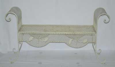 banc fer forge blanche d 39 occasion. Black Bedroom Furniture Sets. Home Design Ideas
